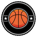 Basket Ball Logo Retro Style Stock Photos