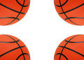 Basket-balls oranges d'isolement Photos stock