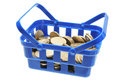 Basket of Coins Royalty Free Stock Image