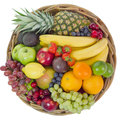 Basket with colorful fruits Royalty Free Stock Photography