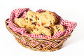 Basket Of Cookies Royalty Free Stock Images