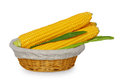 Basket of corn Stock Photos
