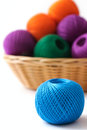 Basket crafts and sewing Royalty Free Stock Images