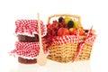 Basket fresh fruit Royalty Free Stock Photo