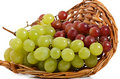 Basket of fresh grape Royalty Free Stock Images