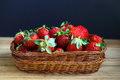 Basket of fresh red strawberries Stock Image