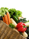 Basket Fresh Vegetables Royalty Free Stock Photo