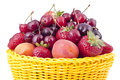 Basket with fruit Royalty Free Stock Photos
