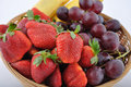 Basket of fruits Royalty Free Stock Images