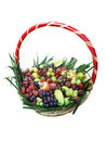 Basket of fruits photo Stock Photography