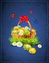 A basket full of Easter eggs Stock Photography