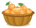 A basket full of oranges illustration on white background Royalty Free Stock Image