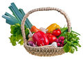Basket full of vegetablepotatoes Royalty Free Stock Photography
