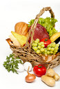 Basket of goods Royalty Free Stock Photo
