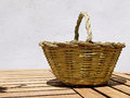 Basket hand made craft Royalty Free Stock Photo