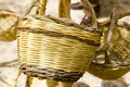 Basket handcraft mediterranean Ibiza Balearic Stock Photography