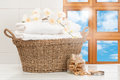 Basket Of Laundry Royalty Free Stock Photography
