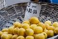 Basket of Lemons Stock Photography