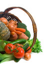 Basket of Market Vegetables Royalty Free Stock Photo