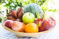 Basket Of Mix Fruits Stock Images