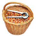 Basket of nuts Stock Photos