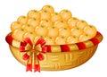 A basket of oranges illustration on white background Stock Photo