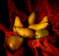 Basket of Pears Stock Photography