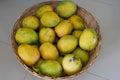 Basket of peter mangos in nigeria Royalty Free Stock Image