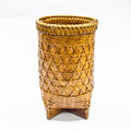 Basket rattan on a white background Royalty Free Stock Image