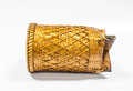 Basket rattan on a white background Royalty Free Stock Photography
