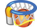 Basket ring ball Arkivbild