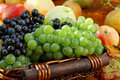 Basket of ripe fruits. Royalty Free Stock Photo