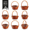Basket set with clipping path
