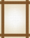 Basket weave frame or border Stock Image