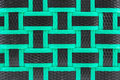 Basket weave texture black and green background Stock Photography