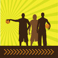 Basketbal_guys Royalty Free Stock Photography