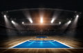 Basketball arena,3d rendering Royalty Free Stock Photo