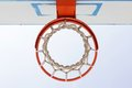 Basketball backboard hoop and net from below Royalty Free Stock Photography