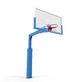 Basketball backboard isolated on white background d illustration Royalty Free Stock Images
