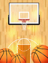Basketball background an illustration of a court balls and hoop vector eps file available eps file contains transparencies Stock Photos