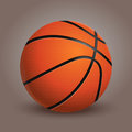 Basketball ball  on background. Realistic vector Illustration. Royalty Free Stock Photo