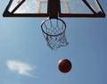 Basketball Ball And Basket