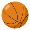 Basketball Ball Flat Icon Isolated on White