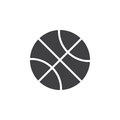 Basketball ball icon vector, filled flat sign