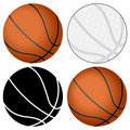 Basketball ball set Stock Photography