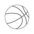 Basketball ball silhouette. For your business project