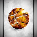 Basketball ball watercolor style eps Royalty Free Stock Photography