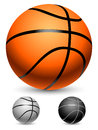 Basketball balls orange white and black Royalty Free Stock Photography