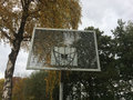 Basketball basket outdoors Stock Photo