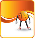 Basketball character Royalty Free Stock Photo